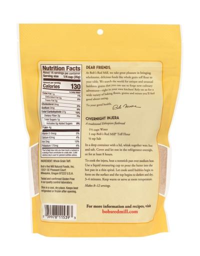 Teff Flour - back