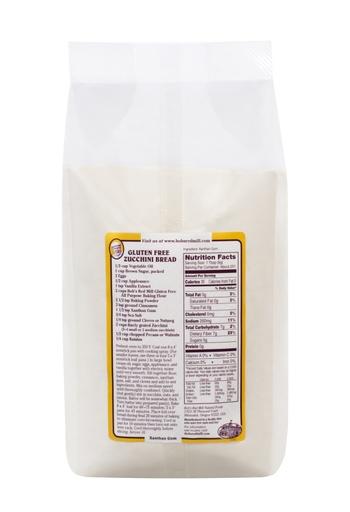 Xanthan gum - back - SUP - 5 lbs