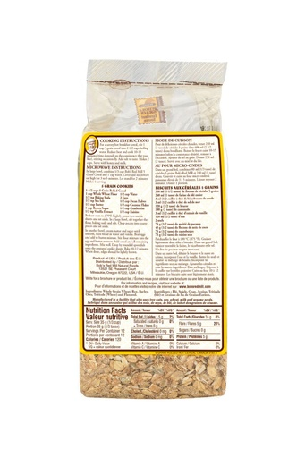 5 grain cereal - canadian - 453g - back