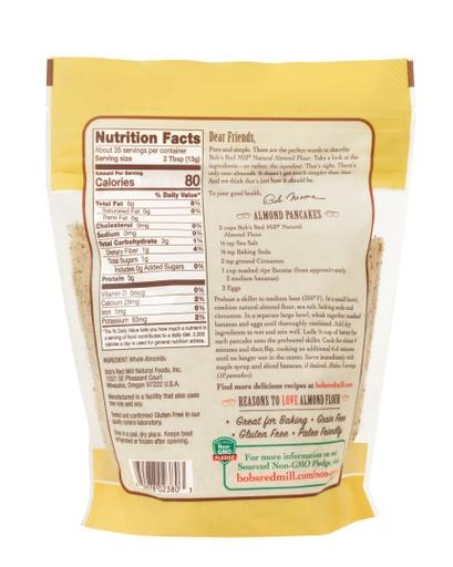 Almond Flour Natural- back