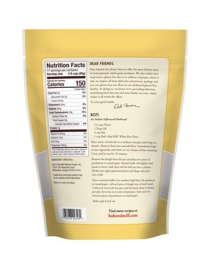 White Rice Flour- back
