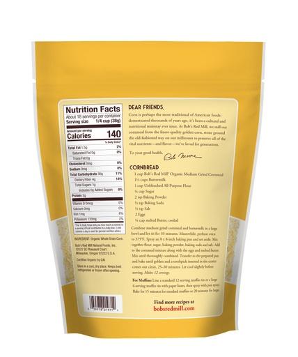 Cornmeal Medium Grind Organic- back