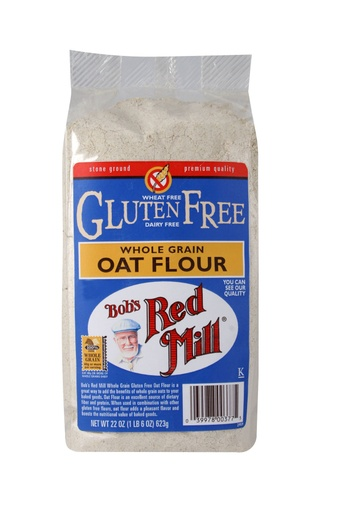Gf Oat flour whole grain - front