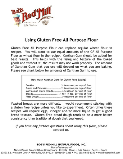 How To Use Gluten Free All Purpose Flour
