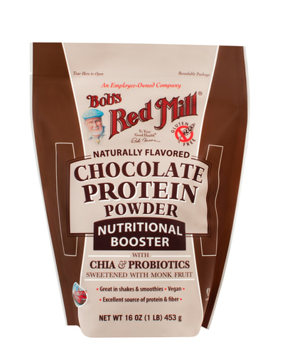 Chocolate Protein Powder -front