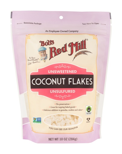 Coconut flakes unsweetened - front