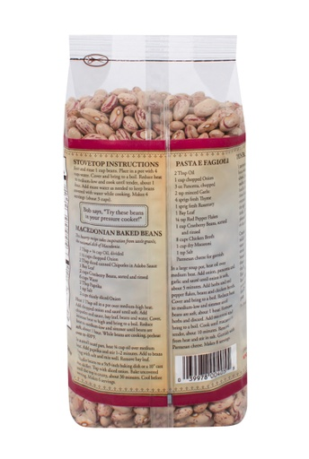Beans cranberry - back