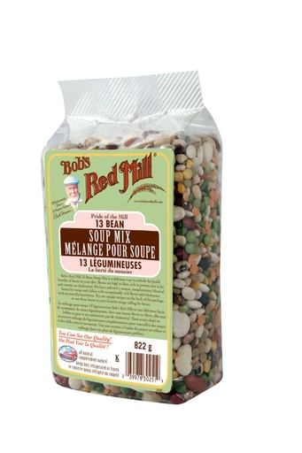 13 bean soup mix - canadian - 822g - side