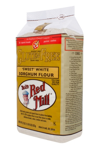 GF Sweet white sorghum flour - side