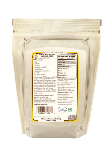 Almond flour - 453g - IN - back