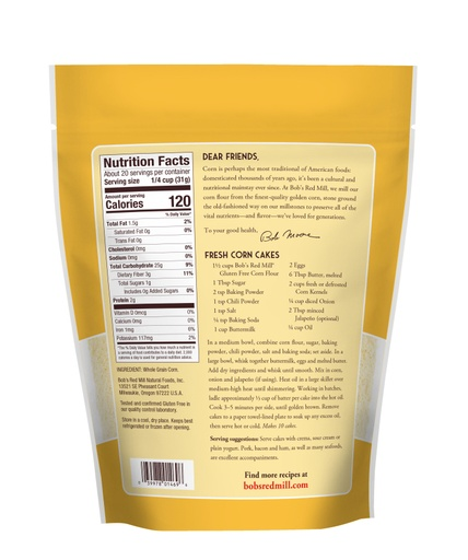 Corn Flour Gluten Free- back
