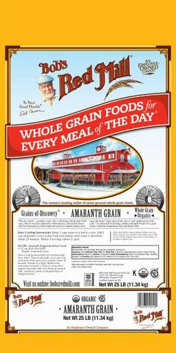 Og amaranth grain - 25 lbs