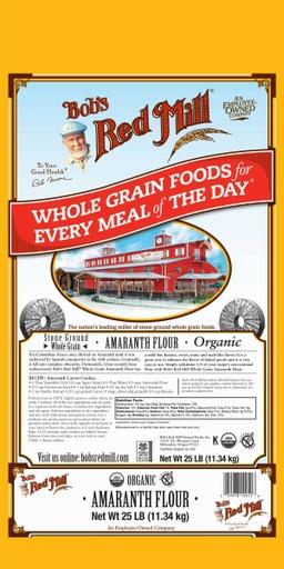 OG Amaranth flour - 25 lbs - front
