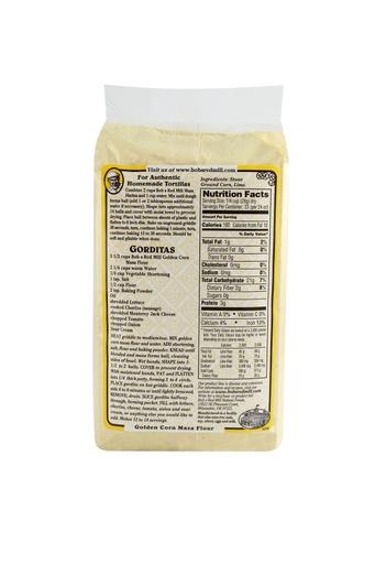 Corn flour golden masa - back