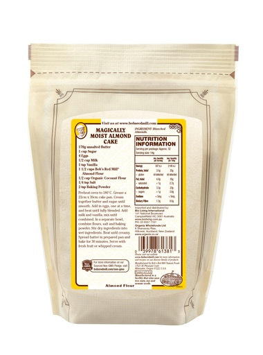 Almond flour - 453g - AU - back