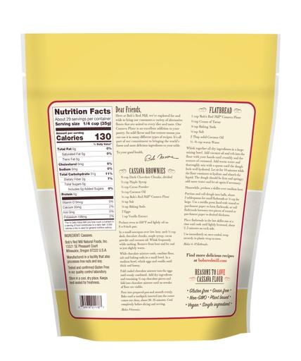 Cassava Flour 36oz- back