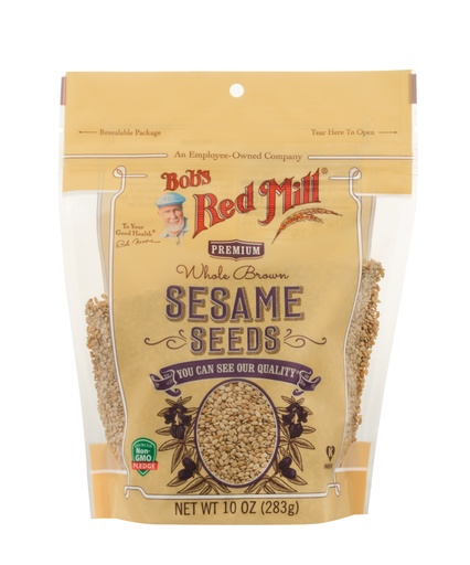 Brown sesame seeds - front