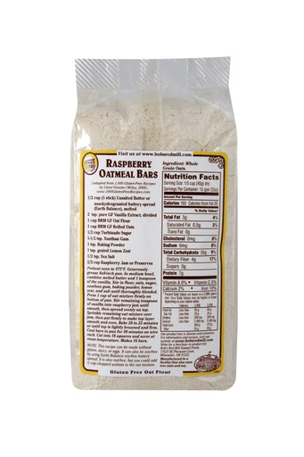 Gf Oat flour whole grain - back