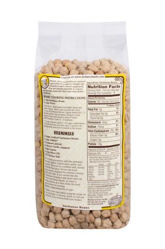 Beans garbanzo - back