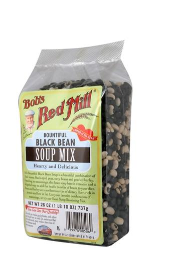 Bountiful black bean soup mix - side