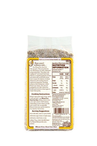 Wf steel cut oats - australia - back