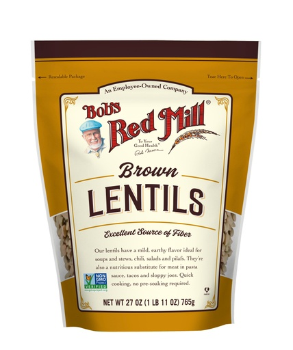 Brown Lentils - front