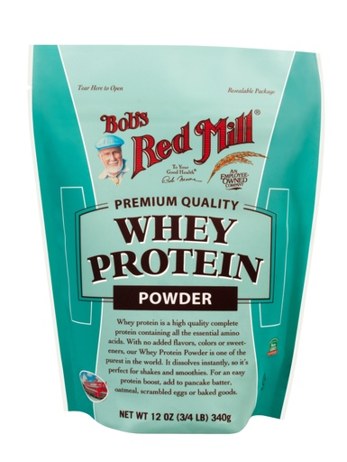 Whey protein powder - front