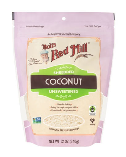 Coconut shredded unsweet - front