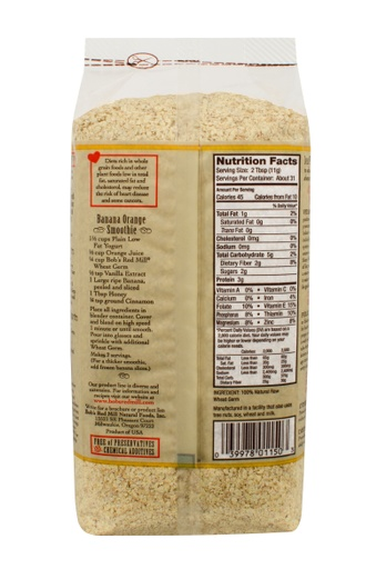 Wheat germ - back 12 oz