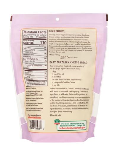 Tapioca Flour- back
