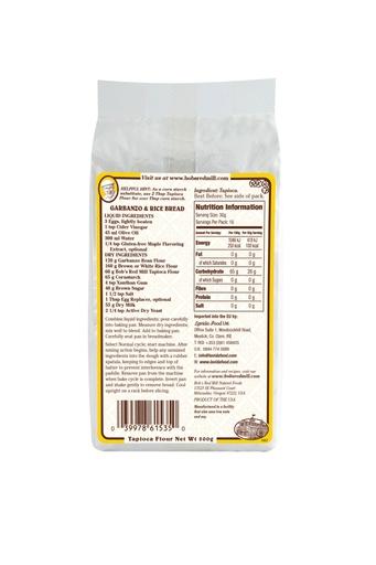 Tapioca flour - 500g - gb - back