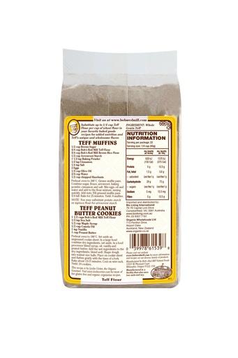 Teff flour - australia - back
