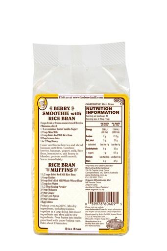 Rice bran - australia - back