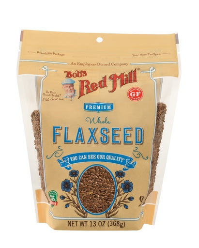 Brown flaxseed - front