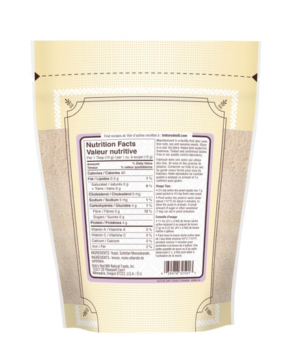 Active Dry Yeast - SUP - 227g - canadian - back