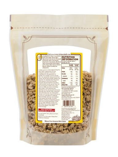Apple Blueberry Granola - SUP - 340g - back - AU