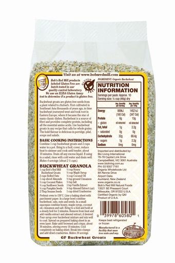 Buckwheat - 453g - australia - back