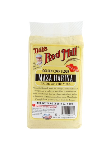 Corn flour golden masa - front
