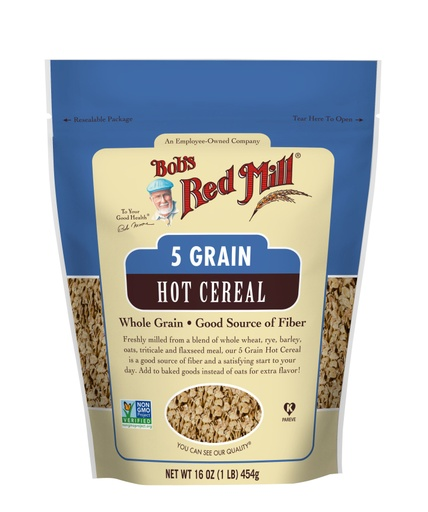 5 Grain Rolled Hot Cereal- front 16 oz