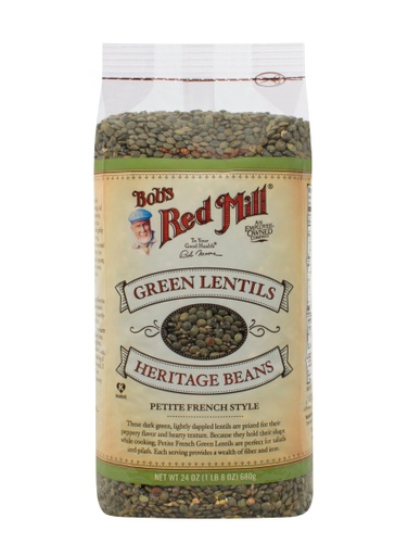 Beans pet french green lntls - front