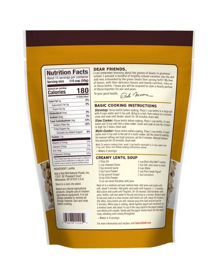 Brown Lentils - back