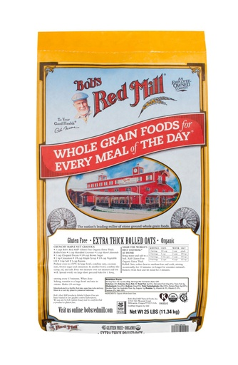 GF OG Thick Rolled Oats - 25 lbs