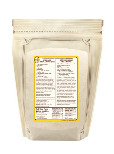 Almond flour - SUP - 907g - back - canadian