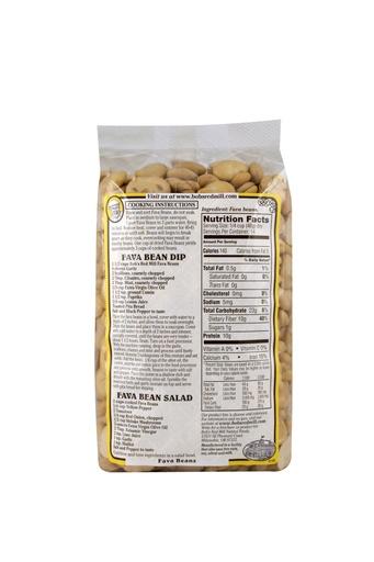Beans fava - back