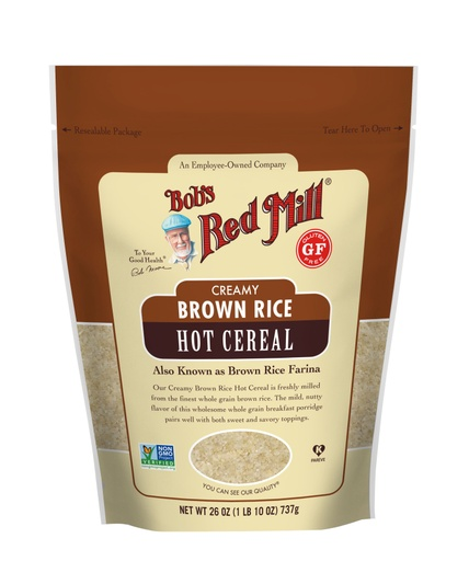 Brown Rice Farina Hot Cereal- front