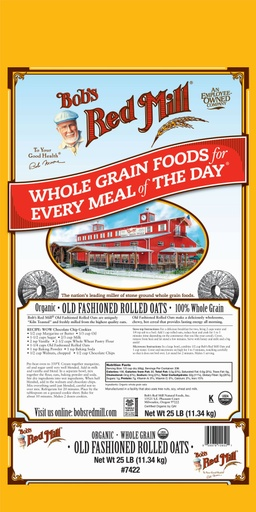 Og old fashioned rolled oats - 25 lbs
