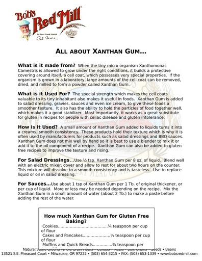 Xanthan Gum Information