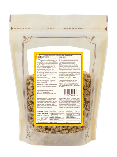 Apple Blueberry Granola - 340g - SUP - canadian - back