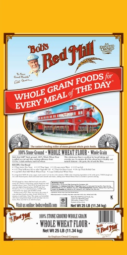 Whole Wheat Flour - 25 lbs