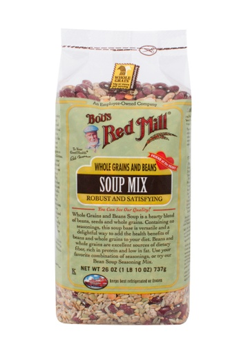 Whole grains & beans soup mix - front